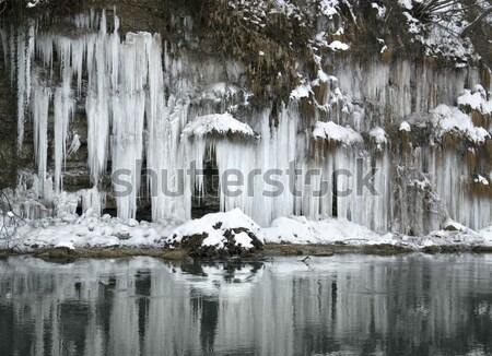 Folyó déli Németország víz természet tájkép Stock fotó © prill