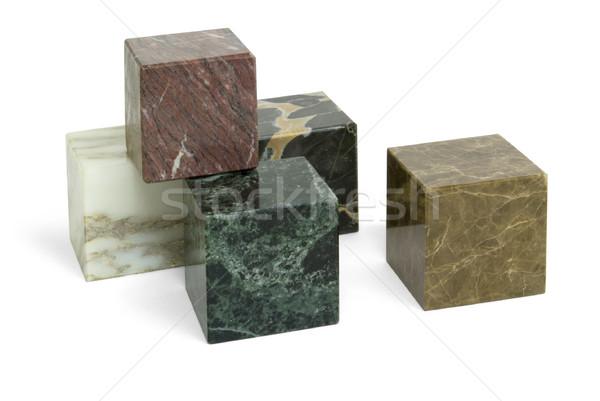 Stock photo: stone cubes