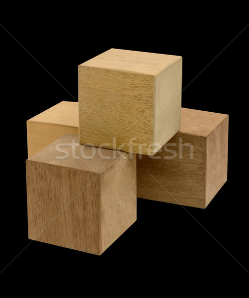 wooden cubes Stock photo © prill