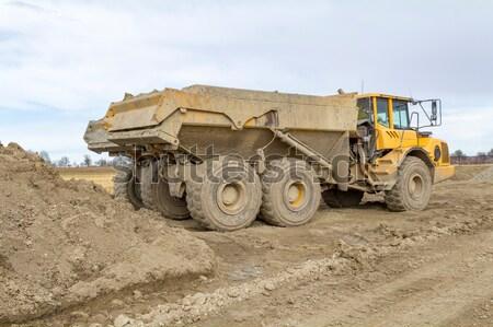 ブルドーザー 石 晴れた 建設 業界 ホイール ストックフォト © prill