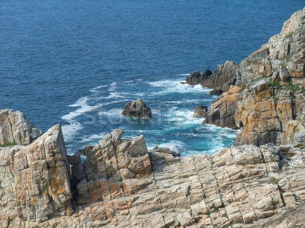 半島 風景 風景 海 山 ストックフォト © prill