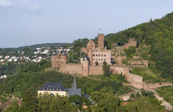 aerial view of Wertheim Castle Stock photo © prill