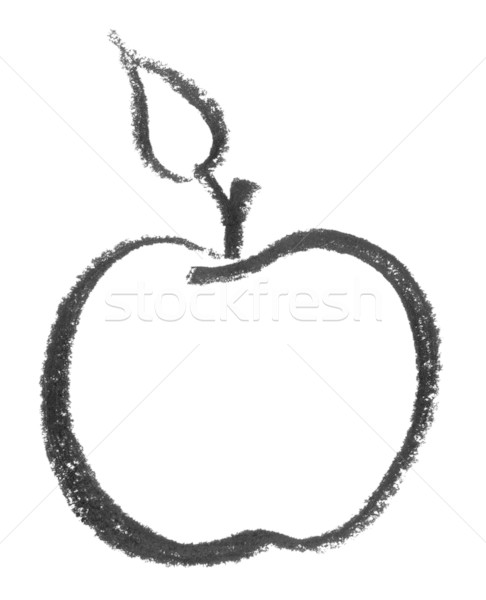 sketched apple Stock photo © prill