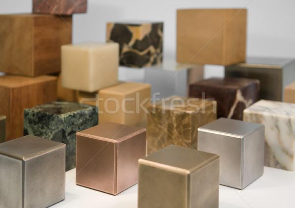 Stock photo: various cubes