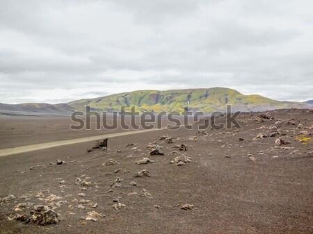 gravel road in Iceland Stock photo © prill