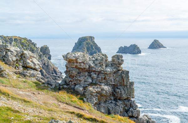 Sahil manzara etrafında manzara deniz kaya Stok fotoğraf © prill