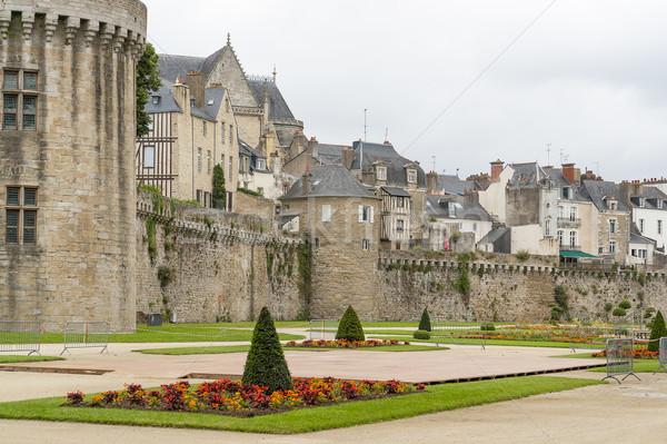 Ville département bâtiment mur pierre parc Photo stock © prill