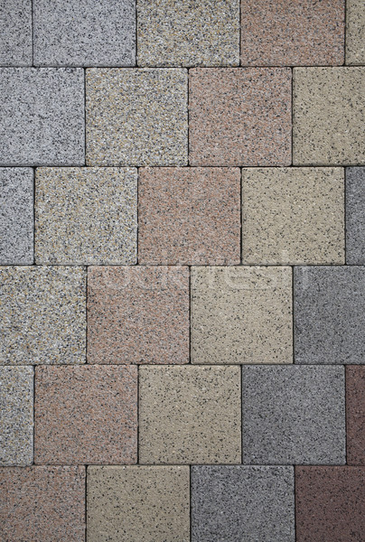 pastel colored geometric stone pattern Stock photo © prill