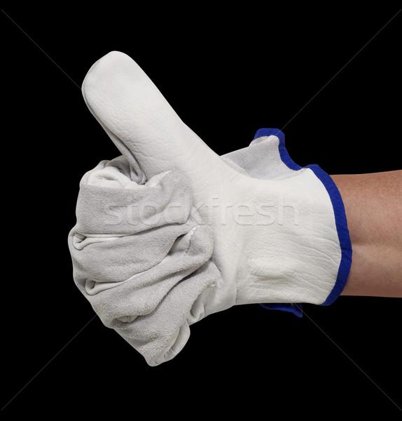 gloved hand signaling Stock photo © prill