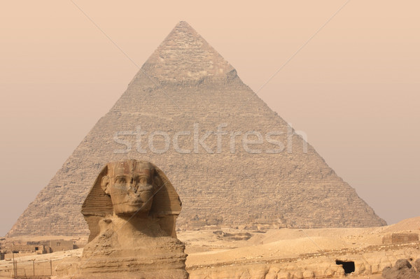Giza Necropolis Stock photo © prill