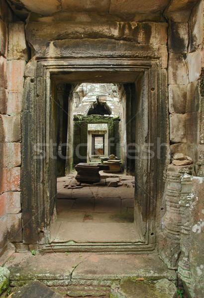 Corredor templo angkor Camboya edificio arte Foto stock © prill