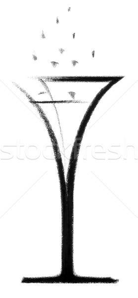 champagne glass sketch Stock photo © prill
