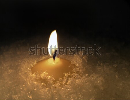 candle and snow Stock photo © prill