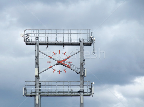 big clock and clouded sky Stock photo © prill