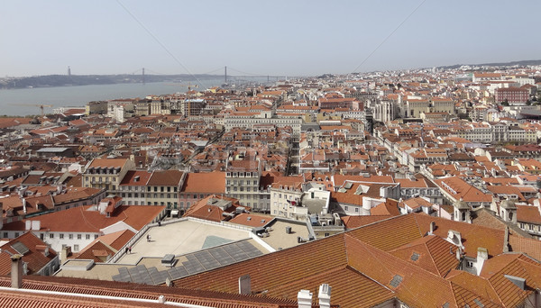 Lissabon stad Portugal huis zee Stockfoto © prill