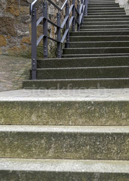 Escalier passage petite ville sud Allemagne construction Photo stock © prill