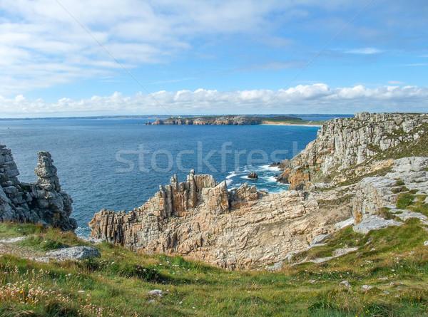 Península cenário paisagem mar montanha Foto stock © prill