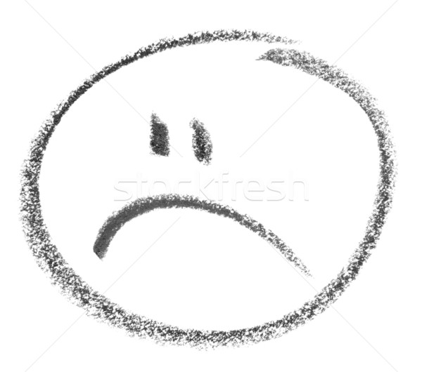 unhappy smiley sketch Stock photo © prill