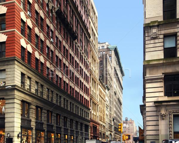 New York street scenery Stock photo © prill
