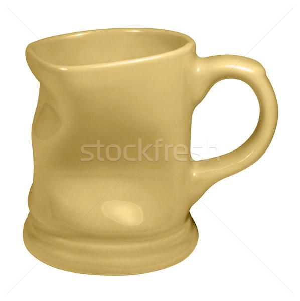 Citromsárga csésze stúdió fotózás porcelán izolált Stock fotó © prill