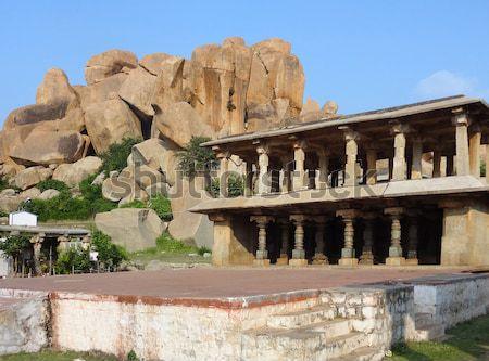 Nandi Temple at Vijayanagara Stock photo © prill