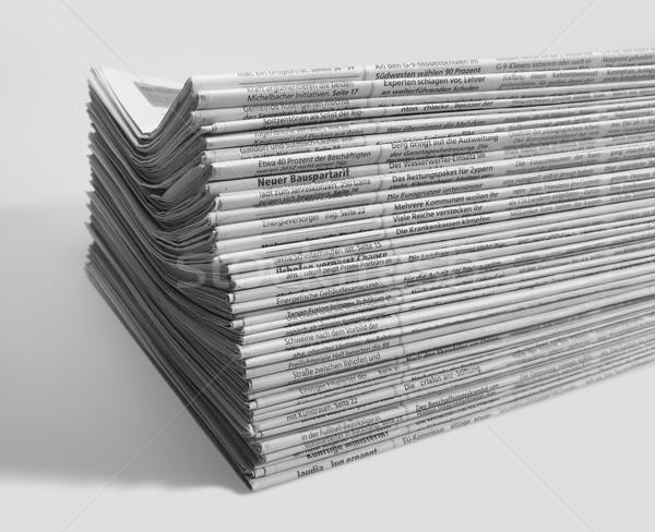 Periódicos luz atrás papel periódico Foto stock © prill