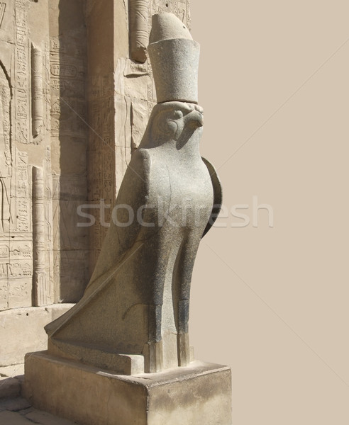 statue around Edfu Temple of Horus Stock photo © prill