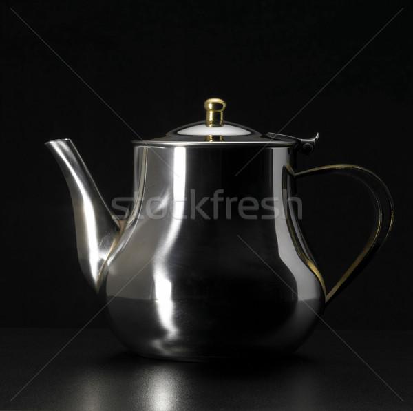 metallic tea pot Stock photo © prill