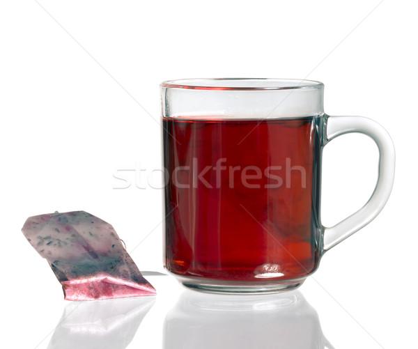 Tazza da tè tè bag vetro luce Foto d'archivio © prill