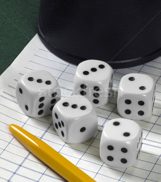 gambling with dice Stock photo © prill