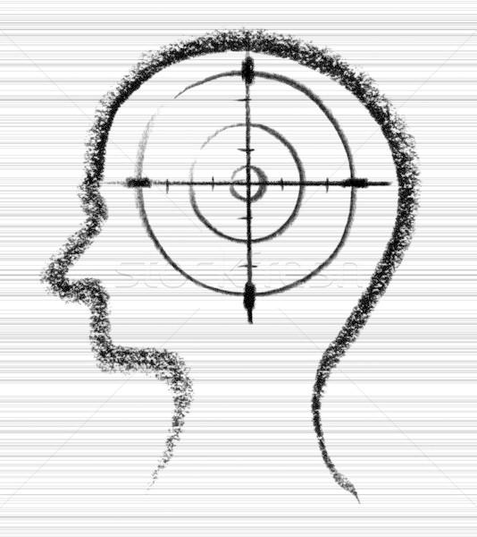 Omicidio icona illustrazione fuori umani Foto d'archivio © prill