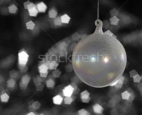 iridescent Christmas bauble Stock photo © prill
