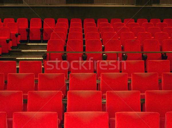 red cinema seats Stock photo © prill