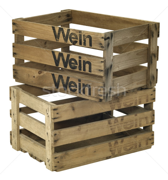 two wooden wine crates Stock photo © prill