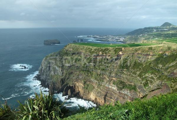 rocky coastal scenery at the Azores Stock photo © prill