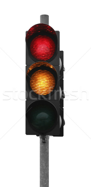 traffic light shows red yellow Stock photo © prill