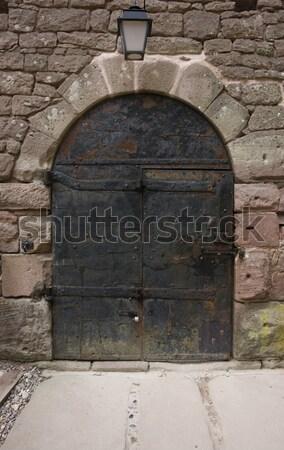 historic door at Haut-Koenigsbourg Castle Stock photo © prill