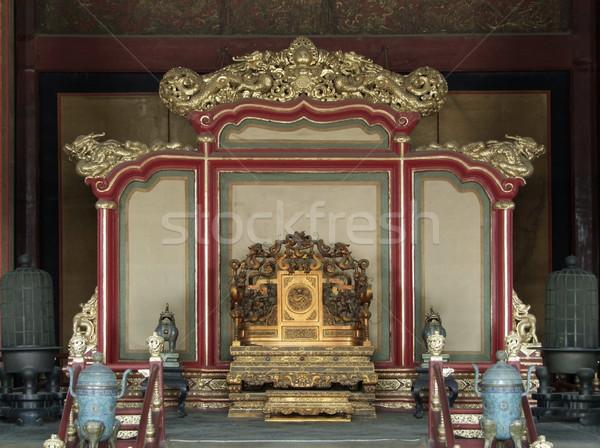 throne in the Forbidden City Stock photo © prill
