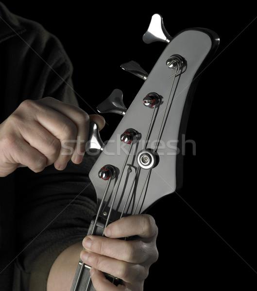bass guitar tuning Stock photo © prill
