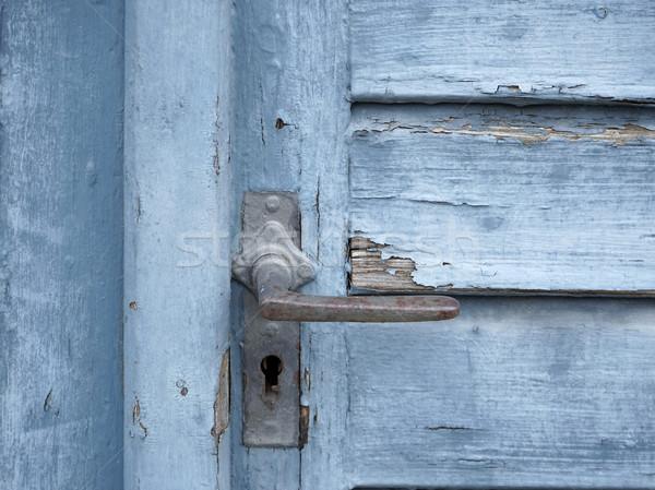 rundown blue door Stock photo © prill