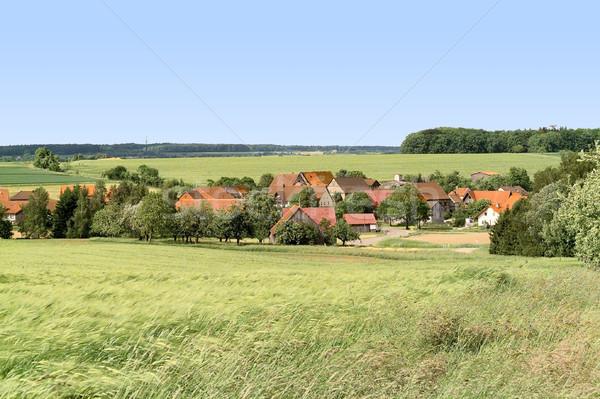 деревне южный Германия дома области осень Сток-фото © prill