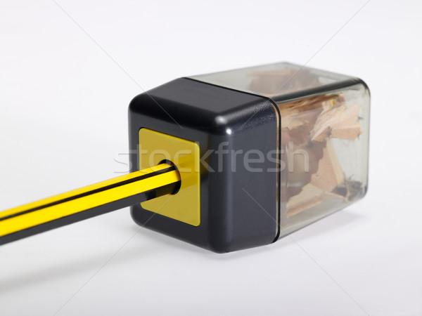 Farbują temperówka polu szczegół świetle powrót Zdjęcia stock © prill