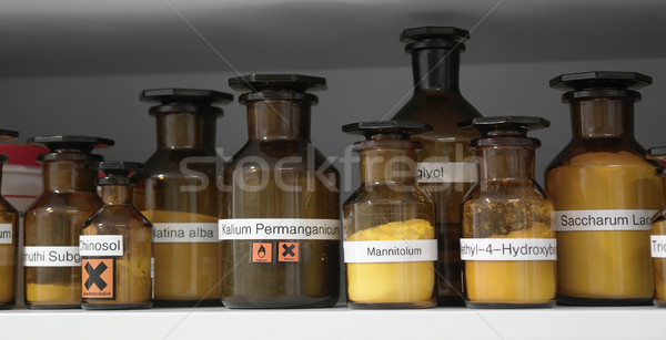 chemicals in glass bottles Stock photo © prill