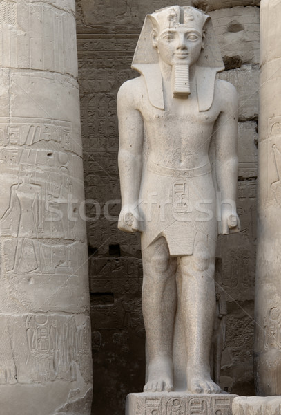 pharaonic sculpture at Luxor Temple in Egypt Stock photo © prill