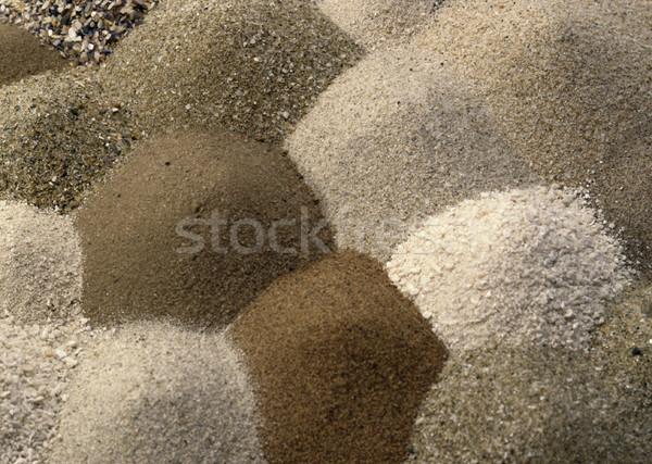 Diferente marrom areia um outro quadro completo Foto stock © prill
