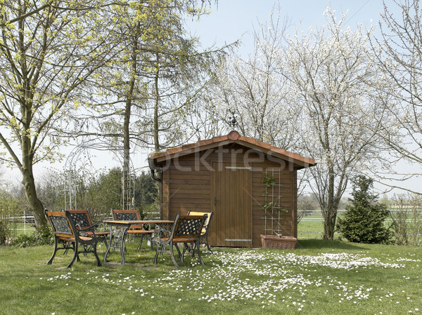 peaceful summerhouse Stock photo © prill