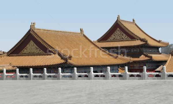 Cité interdite Chine bâtiments Pékin bâtiment mur Photo stock © prill
