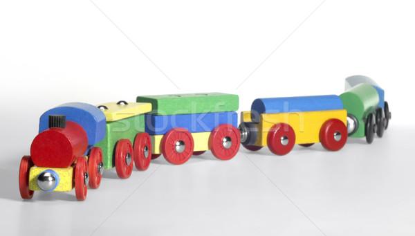 ストックフォト: 木製玩具 · 列車 · スタジオ · 写真 · カラフル · 光