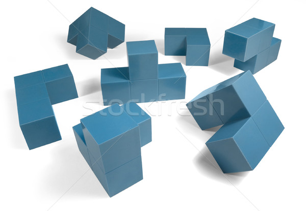 blue cubic objects Stock photo © prill