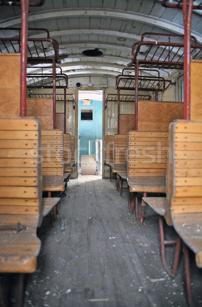 inside a old historic railway car Stock photo © prill